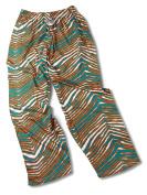 Zubaz Miami Team Colour Zebra Pants, Aqua Orange
