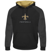 "New Orleans Saints Majestic NFL ""Armour 5.1cm Men's Pullover Hooded Sweatshirt"