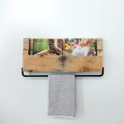 DAKODA LOVE - Pallet Shelf w/ Towel Holder, USA Handmade Reclaimed Wood, Wall Mounted, Kitchen Bathroom Towel Rack