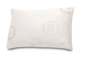 Herbal Fusion Green Tea Infused Standard Queen Sized Memory Foam Pillow