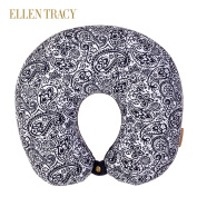 Ellen Tracy Therapeutic Neck Pillow with Removable Cover Black/White Floral