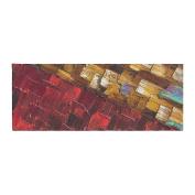 "KESS InHouse SD1020ABR01 Steven Dix ""Movement Beneath"" Red Gold Bed Runner, 90cm X 220cm ,,"