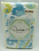 Dena Home European Pillow Sham from the Breeze Collection in Aqua
