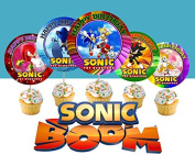 12 Special SONIC THE HEDGEHOG Inspired Party Picks, Cupcake Picks, Cupcake Toppers #1