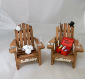 Wedding Party Fishing Adirondack Chairs Tackle Box Cake Topper