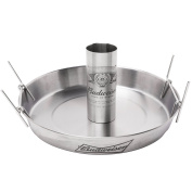 Beer Can Roaster - Budweiser Stainless Steel Chicken Beeroaster Deluxe with Recipe Guide - Cooks Meat and Vegetables at same time