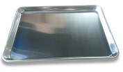 """EQ Solid Aluminium Oven Tray Baking Sheet, 6 Units Package, 13""""X18""""X1"""", 1.0 mm"""