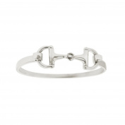 Kabana Sterling Silver Horse Bit Bangle Bracelet