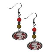 NFL Fan Bead Dangle Earrings