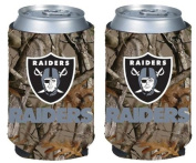 NFL Football Vista Camo Beer Can Kaddy Collapsible Koozie Holder 2-Pack - Pick Team!