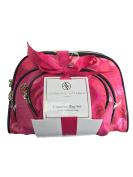 Adrienne Vittadini Women's Three Dome Shaped Honeycomb Design Cosmetic Bag Set