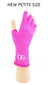 OC Nails UV Shield Glove (HOT PINK ~ PETITE) Anti UV Glove for Gel Manicures with UV/LED Lamps
