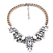 Necklace, Hatop Fashion Women's Chain Crystal Statement Bib Chunky Collar Pendant Necklace