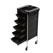 Anself Salon Barber Cart Trolley Tray Storage Cart Hairdressing Hair Rolling Cart 6 Layers