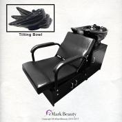 Tilting CERAMIC Shampoo Bowl Floor Cabinet with Chair Unit - TLC-B07T-FC-Door