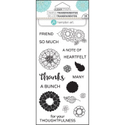 Hampton Arts Clear Stamps ~ Layer Flower Thanks