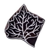 Indian Wooden Printing Leaf Scrapbook Textile Block Pottery Art Stamp For Clay