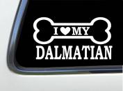 ThatLilCabin - I LOVE MY DALMATIAN 20cm AS616 car sticker decal