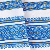 """VALENTINE'S SALE!! Decorative fabric with Ukrainian ornament Easter Tablecloth plahta ethnic White Blue yellow 150x150 cm / 59""""x59"""" EASTER GIFT IDEA"""