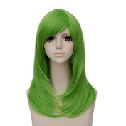 TOP-MAX Wig 55cm Long Straight Grass Green Lolita Cosplay Party Hair+Cap