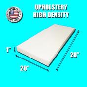 FoamRush 2.5cm H X 50cm W x 50cm L High Density Custom Cut Upholstery Foam Cushion (Seat Replacement, Upholstery Sheet, Foam Padding) Made in USA