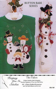Keeping You In Stitches Craft Pattern ~ Button Babe The Flakes Stuffed Snowman and Applique