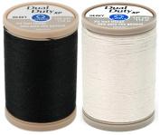 2-PACK - Coats & Clark - Dual Duty XP Heavy Weight Thread (Black + Natural) 125yds Each