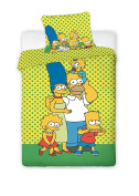 Jerry Fabrics JF0192 Simpsons Yellow, Cotton, Bed Linen Set 140 x 200 cm and 70 x 90 cm
