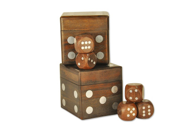 SmartHug Wooden Set of 2 Hand Designed Dice Games With 5 Dark Wood Dice - {Products for a Cause} + Valentine's Love Discount & cheque THE PROMOTIONS AT THE BOTTOM !