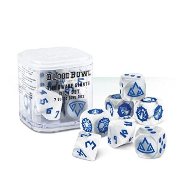 Blood Bowl The Game of Fantasy Football The Dwarf Giants Dice Set (7 Blood Bowl Dice)