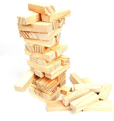 StarMall 48pcs Mini Timber Tumble Tower Stacking Game by StarMall