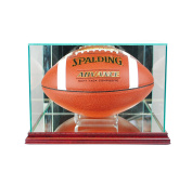 NFL Rectangle Football Glass Display Case