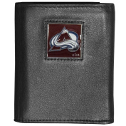 NHL Deluxe Leather Tri-Fold Wallet Packaged in Gift Box