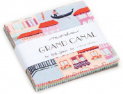 Grand Canal Charm Pack By Kate Spain; 110cm - 13cm Precut Fabric Quilt Squares