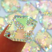 17x21mm AB Colour Cosmic Shape Sew-On Rhinestone for Dress Garment Shoes Accessories,Flatback All- Star Gems Sewing Resin Stone Beads 100pcs 2 Holes