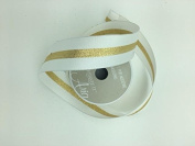 Celebrate IT- Ribbon - Plain ribbon (White ) with gold trims tape in middle 3.8cm x 4 yds