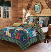 Lake & Lodge Rustic Patchwork Printed Quilt Set - Twin Size
