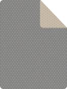 IBENA Messina Stars Reversible Throw Blanket, Grey/Ivory