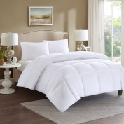 Comfort Spaces - Microfiber Down Alternative Comforter - King Size - White