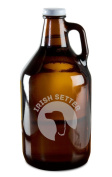 Irish Setter Dog Breed Pride Hand-Made Etched Glass Beer Growler 1890ml