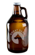 Great Dane Dog Breed Pride Hand-Made Etched Glass Beer Growler 1890ml