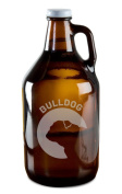 Bulldog Dog Breed Pride Hand-Made Etched Glass Beer Growler 1890ml