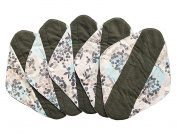 5 Pieces Charcoal Bamboo Mama Cloth/ Menstrual Pads/ Reusable Sanitary Pads (Heavy