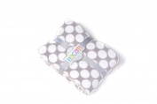 Bacati Dots Plush Throw, Grey, 130cm x 150cm