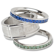 NHL Vancouver Canucks Logo Crystal Stacked Ring Set