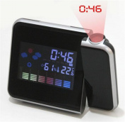 Creative Fashion Portable Mute Multifunction Weather Projection LED Electronic Alarm Clock Calendar Display Timer Snooze