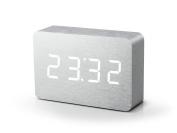 Gingko Brick Aluminium Click Clock
