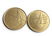 Sailboat Set of 2 We Can't Control The Wind We Can Adjust Our Sails Powerless But Not Helpless Sailing Medallion