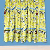 Spongebob Squarepants Official Childrens/Kids Framed Ready Made Curtains Set (170cm x 140cm )
