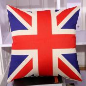 Matoen(TM) Flag Style Square Pillow Cover Cushion Case Toss Pillowcase Hidden Closure